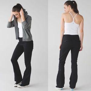 Lululemon &go Take-Off Flare Black High Rise Pants